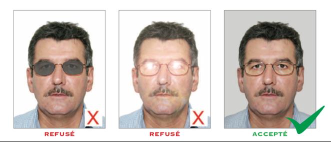 Exemples de photos avec lunettes. A faire ou ne pas faire.